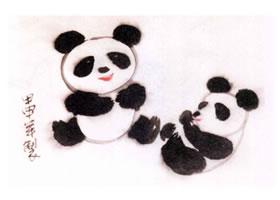 大熊猫的水墨画画法