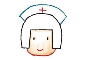 护士色铅笔简笔画画法步骤