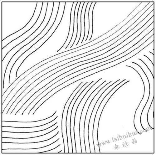 绘画素描平行曲线的练习