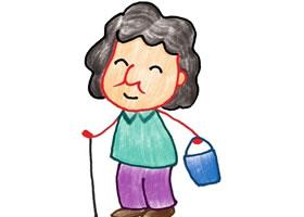 奶奶色铅笔简笔画画法