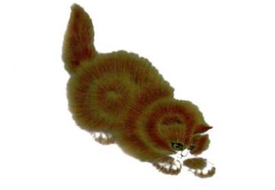 猫的须、眉,黄猫写意画画法步骤四