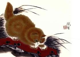 黄猫写意画画法