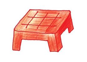 椅子色铅笔简笔画