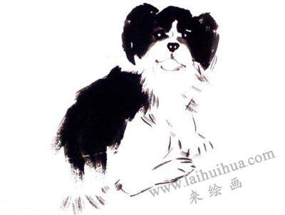 狗的写意画画法步骤三