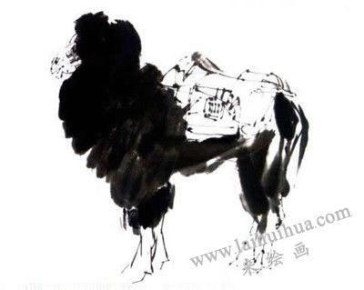 骆驼写意画画法步骤四