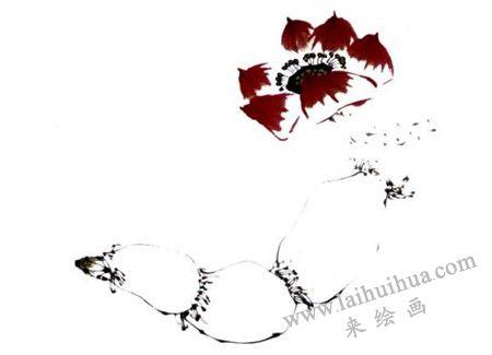 莲藕写意画画法步骤四