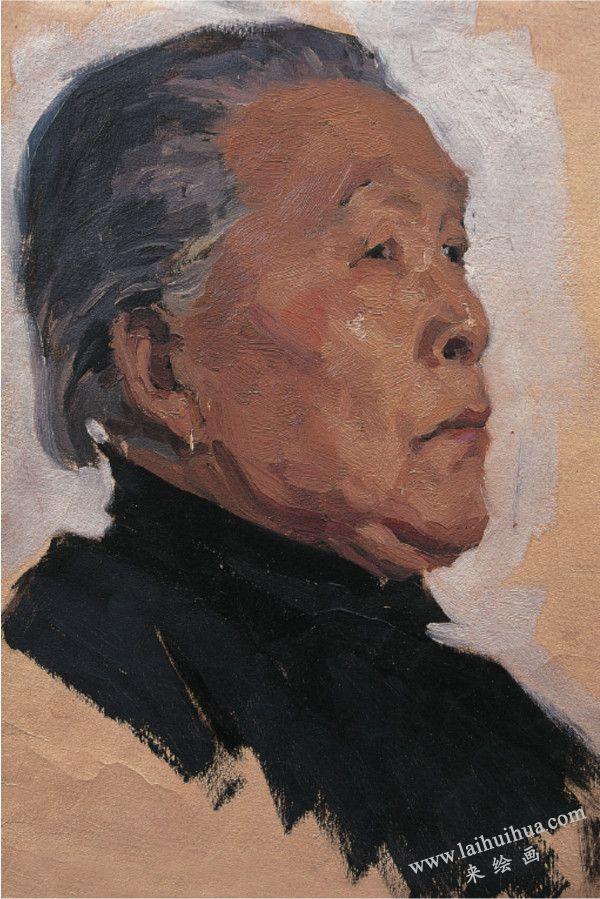 李奶奶像,布面油画