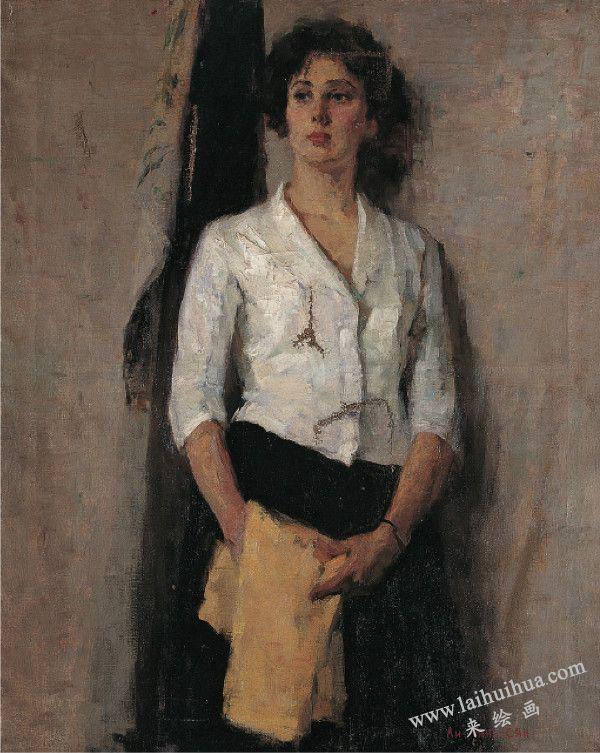 俄罗斯少女,布面油画