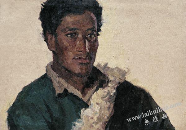 牧民达瓦,布面油画