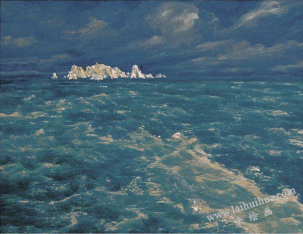 大海的思念 布面油画