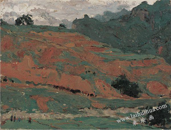 山区 纸上油画