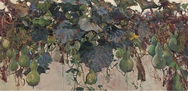 葫芦架 布面油画