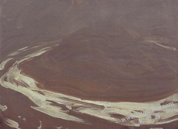 黄河乾坤湾残雪 布面油画