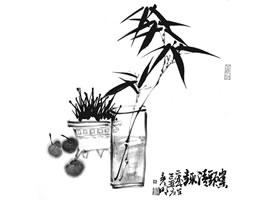 国画竹子画法步骤范例一