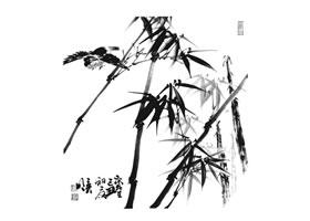 国画竹子画法步骤范例二