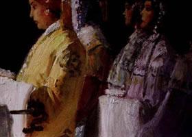 油画人物肖像画作画步骤