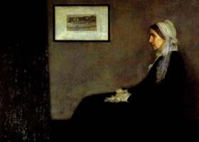 《画家的母亲肖像》人物油画