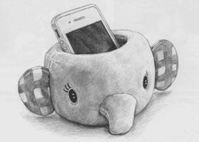 手机托素描