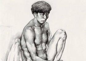 青年男子人体素描