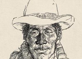 牧民头像素描