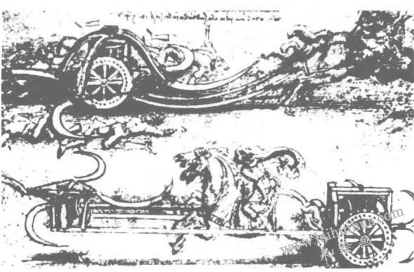 镰刀战车  素描