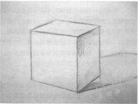 标出明暗交界线   几何体素描
