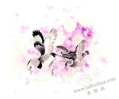 工笔画《玫瑰雨》画法步骤02