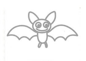 蝙蝠的简笔画画法