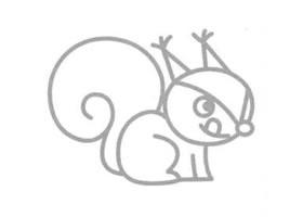 松鼠简笔画画法