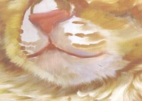 猫嘴的油画画法