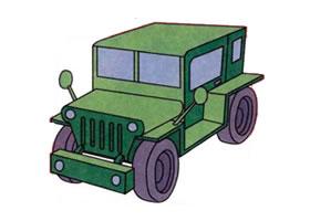 吉普车的画法