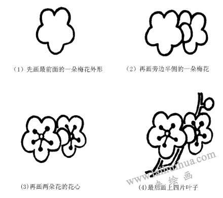 梅花的画法