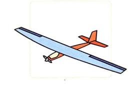 滑翔机的画法
