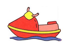 摩托艇的画法