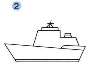 游轮的画法步骤02