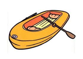 橡皮艇的画法