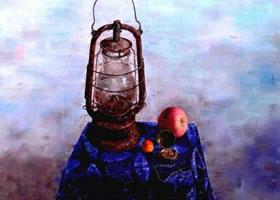 《马灯》油画画法