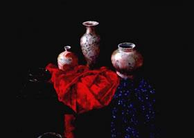 《静谧的中国瓷》油画画法