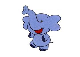 大象儿童画法(一)
