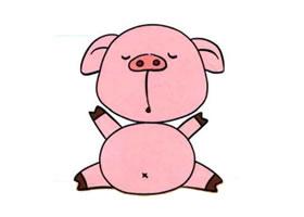 猪的儿童画画法