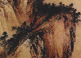 山水画勾、皴、擦、染、点法
