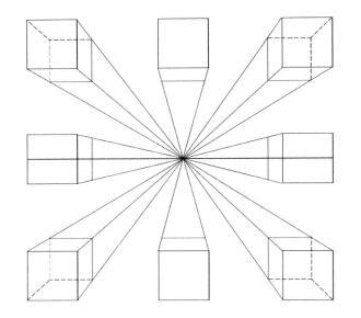 正方体的画法,素描