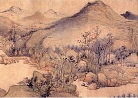 秋山晚翠图卷