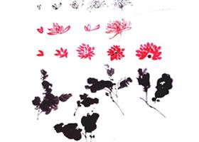 菊花花瓣和菊叶的国画画法