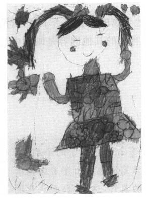 儿童画:跳绳
