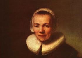 《东美尔夫人像》油画作品