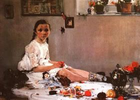 《瓦里亚•阿达拉茨卡娅肖像》油画作品