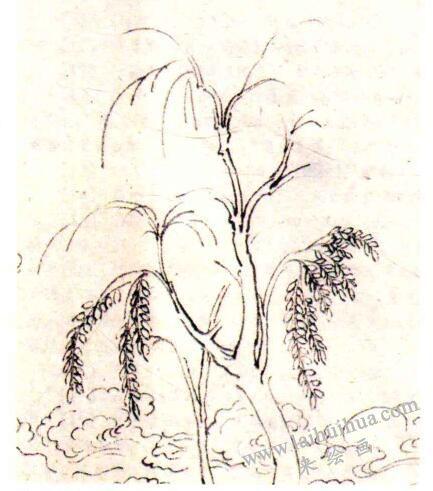 《洛神赋图》中主丛树的笔法解读