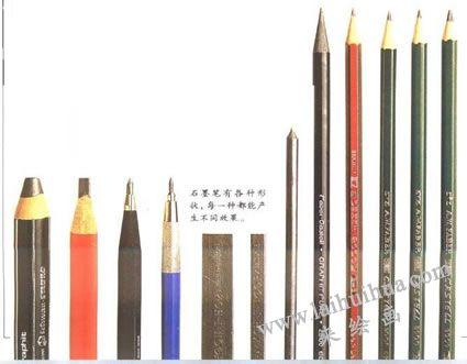 素描使用的铅笔