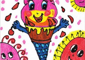 冰激凌儿童画